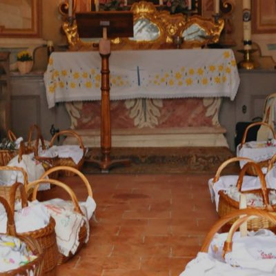 Easter Baskets in Slovenia: At Tustanj Castle