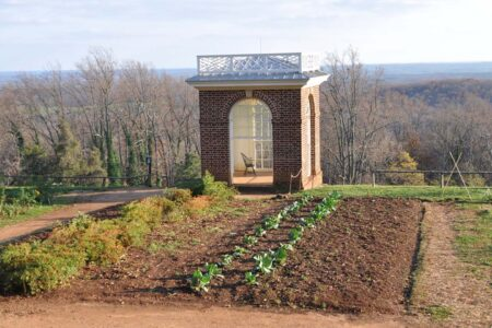 "Monticello Gardens – Jefferson's ""Temple"" is a Relaxing Retreat"