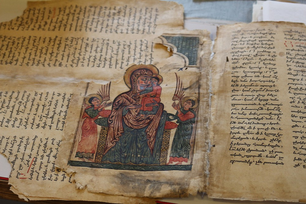 One of the more than 23,000 manuscripts cared for at Matenadaran