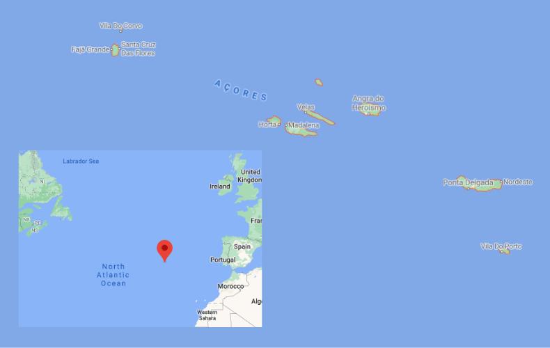 Azore Islands Map