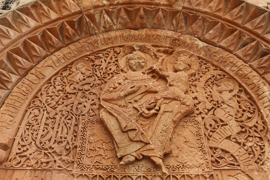 One of the numerous elaborate carvings at Noravank Monastery