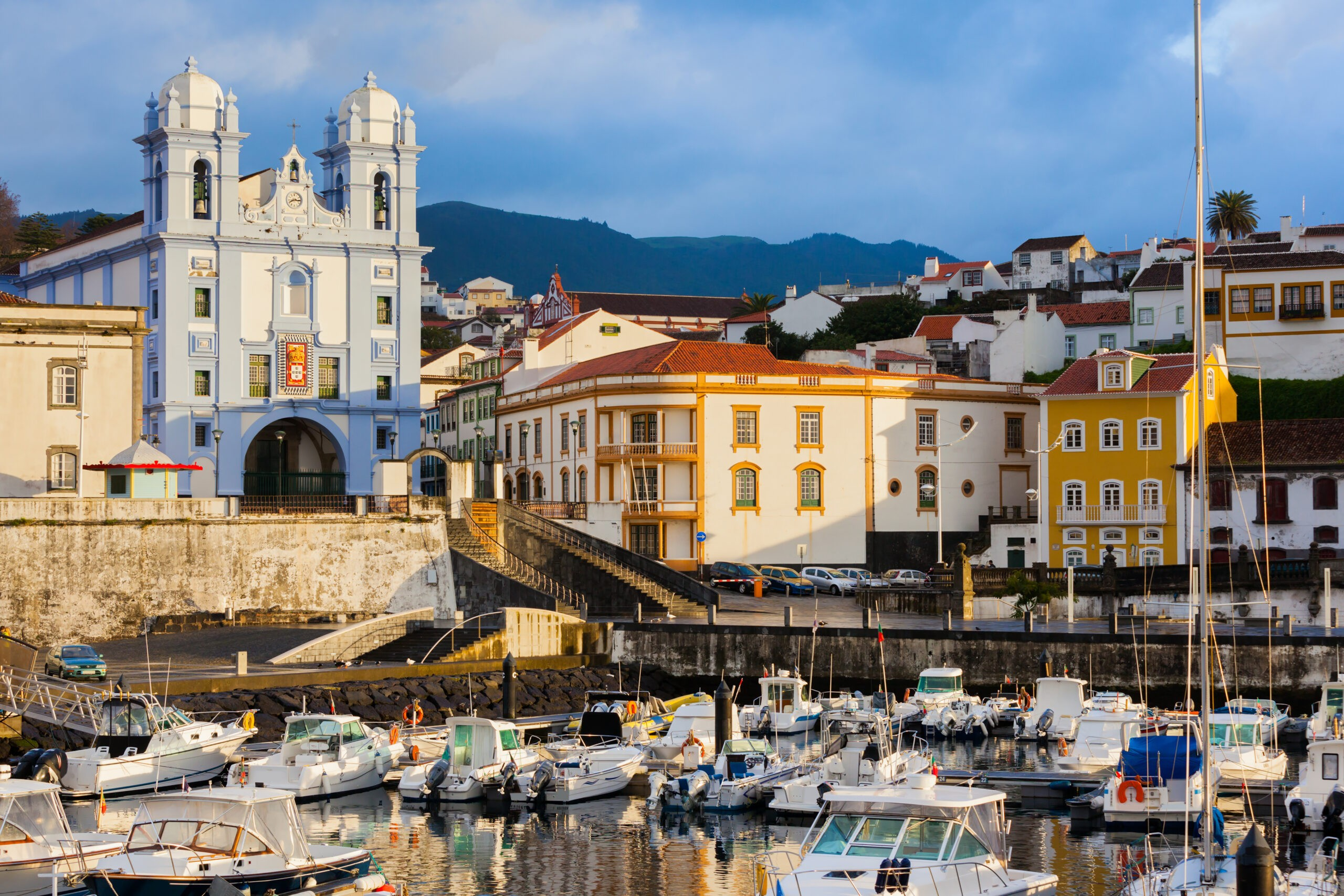 Azores Islands | View of Angra do Heroismo from its marina.