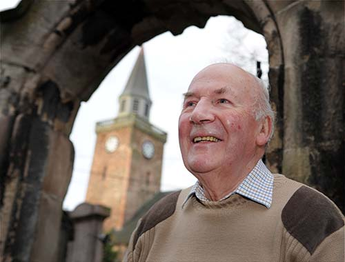 Ross Martin who has written a book on The Old High Church. Picture: Gary Anthony. Image No. 024257