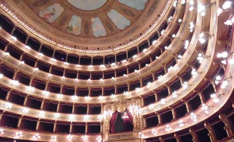 Interior of Teatro Massimo Palermo