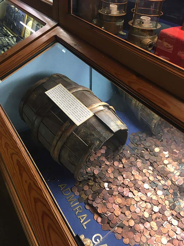 Barrel of Coins from the Admiral Gardner