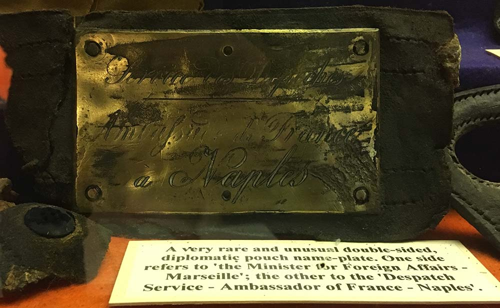 Name Plate from the SS General Abbatucci 1869