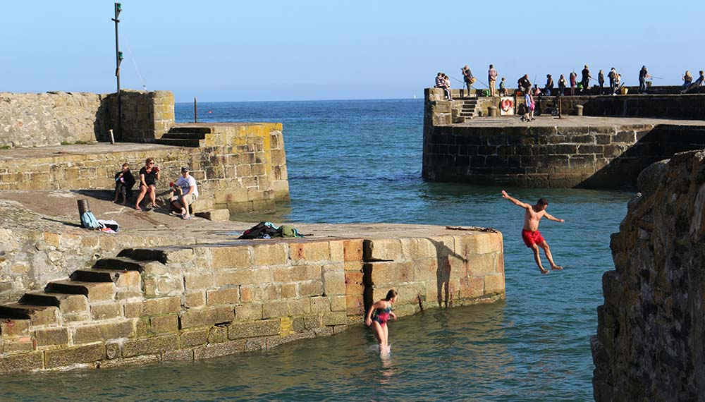 People Swimming in Charlestown Harbour - Charlestown Shipwreck and Heritage Centre Cornwall