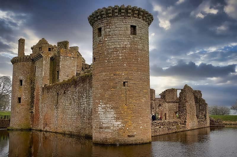 Castles in Scotland |Caerlaverock Castle