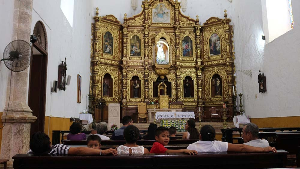 the chapel of San Antonio de Padua monastery in Izamal