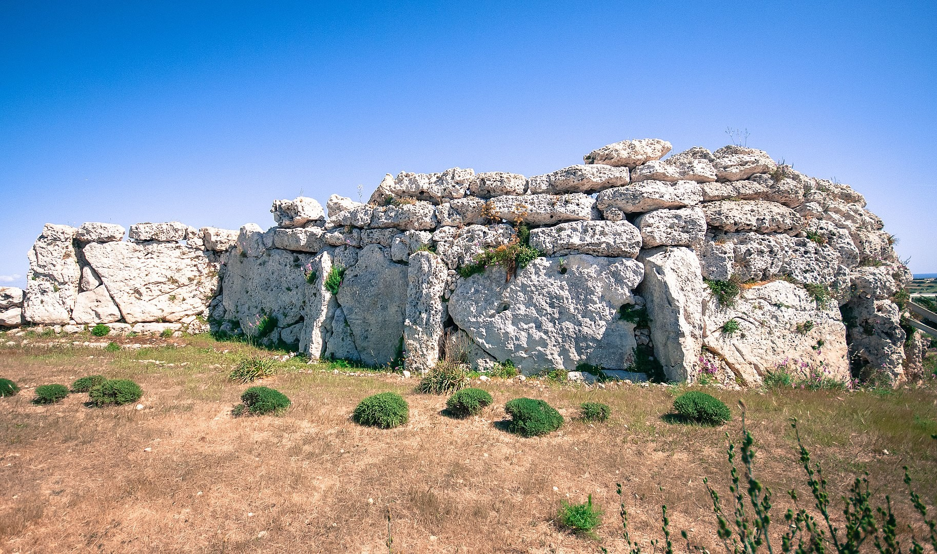 Ġgantija Megalithic Temples complex on Gozo in Malta.