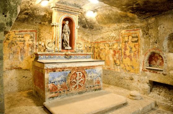 Frescoes of St Agatha's Catacombs