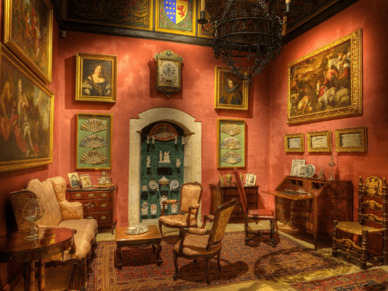 The Palazzo Falson sitting room, where Olof Gollcher, and his wife Nella entertained guests. Photo: Palazzo Falson