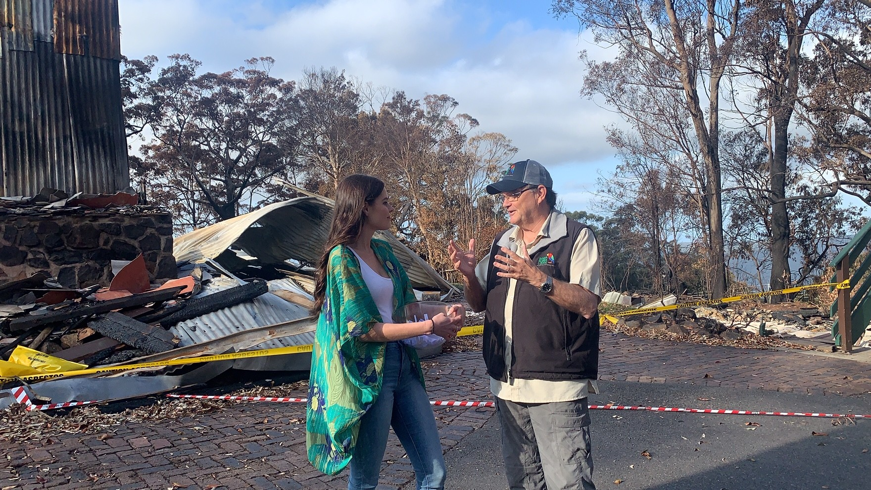 Cara-Lee conducts an interview I did with Steve on the Binna Burra location shortly after the fire that was used for fund-raising purposes