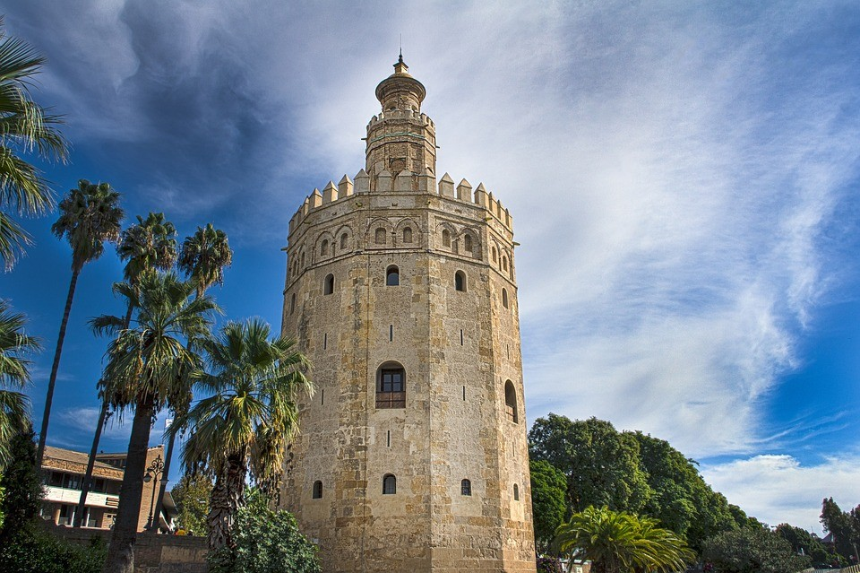 Best Things To Do In Seville | Tower Gold Seville Spain Andalusia.