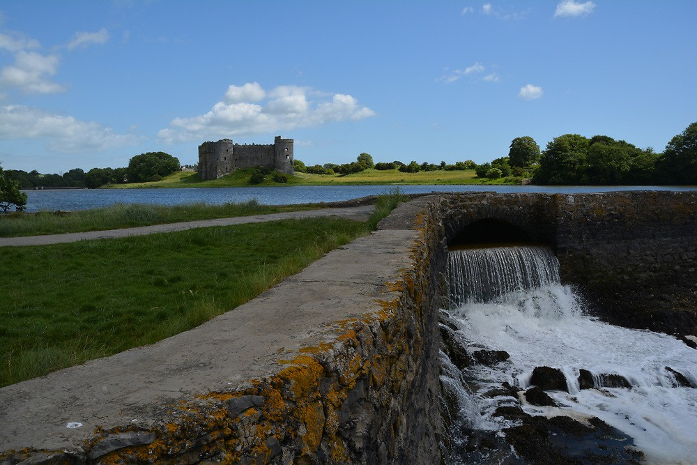 Best Things To Do in Pembrokeshire | View of the falls at Carew Castle's mill.