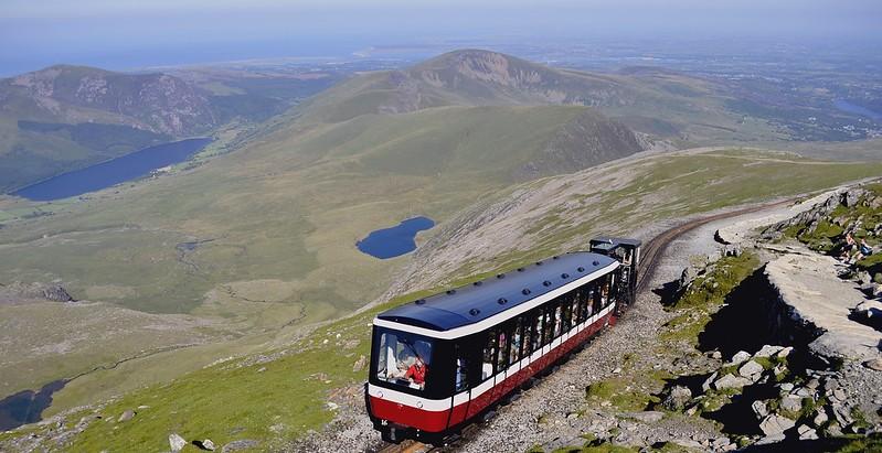 Snowdon mountain railway views.