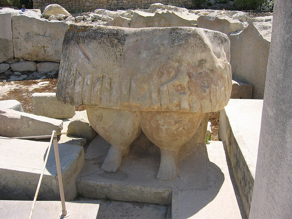 Best Things To Do in Malta | One of the so-called fat ladies of ancient Malta, at the Tarxien Temples.