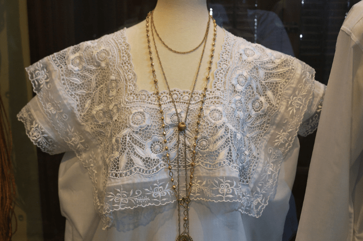 Exquisite lacework on display at the Merida Folk Art Museum.