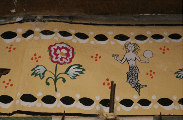 Best Things To Do in Pembrokeshire | Detail of decorative painting in the Tudor Merchant's House in tenby. Photo: Meg Pier