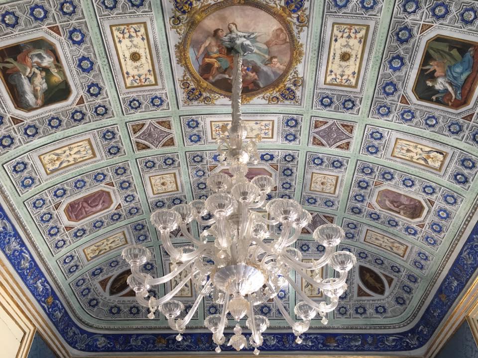 Ornate ceiling of Borgia Palace in Ortygia. Photo: Palazzo Borgia del Casale