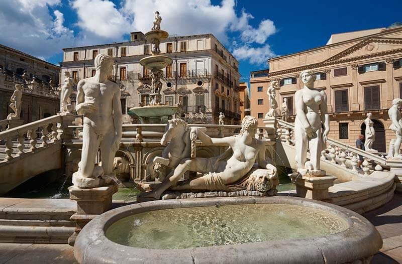 Fontana Pretoria Palermo Sicily