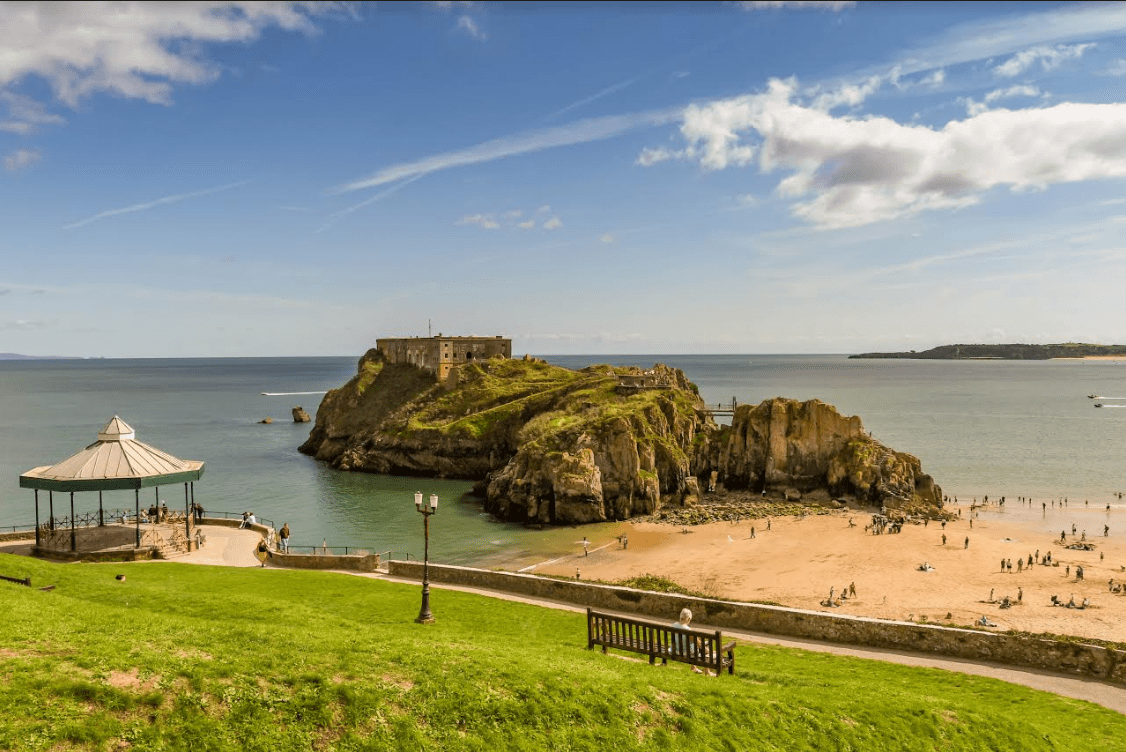 Best Things To Do in Pembrokeshire | View of St. Catherine's Island from Tenby's Castle Hill.
