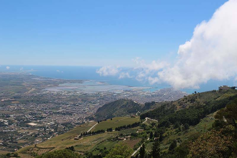 Trapani Bay from Erice