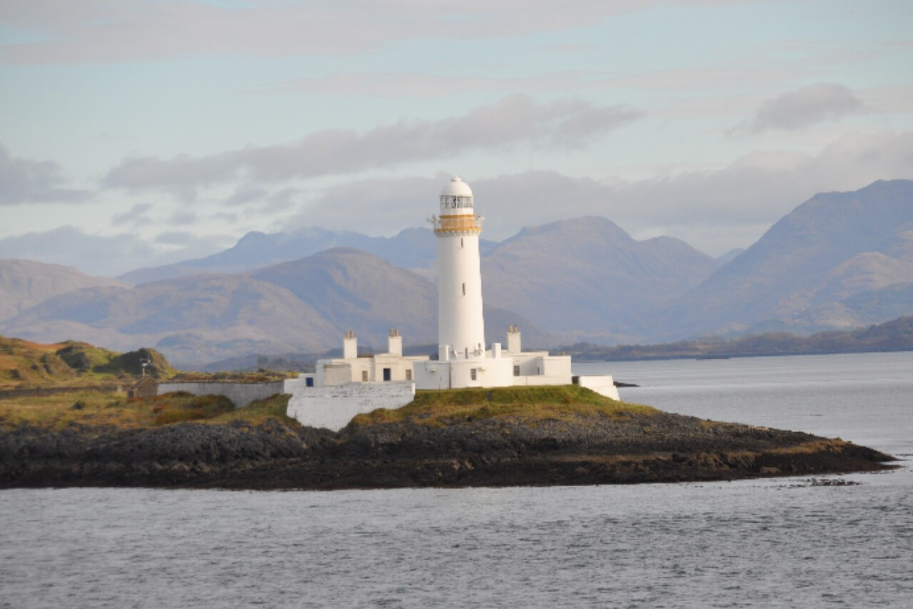 Lighthouse on the islet of Eilean Musdile
